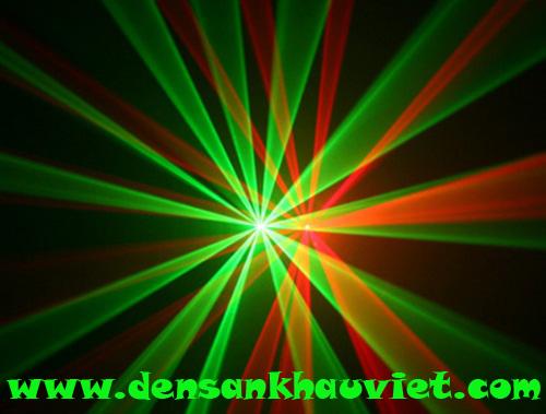 đèn laser 2 cửa 2 màu xanh đỏ