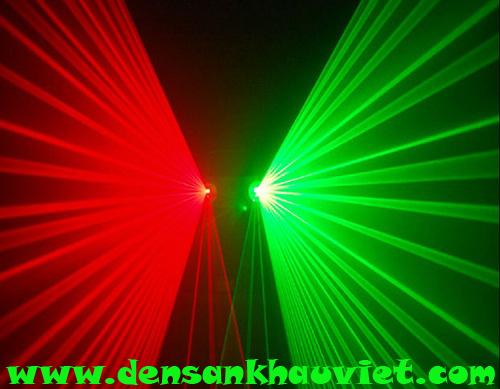 đèn laser 2 màu xanh đỏ