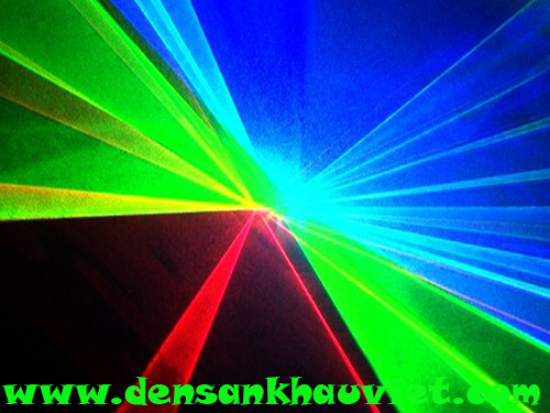 đèn laser dành cho phòng hát 3 cửa 3 màu