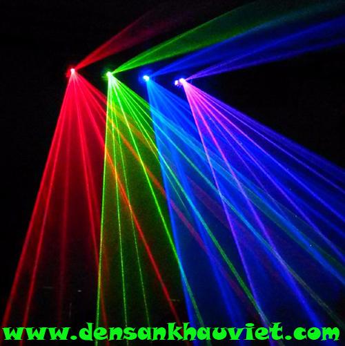 đèn laser 4 cửa 4 màu giá rẻ